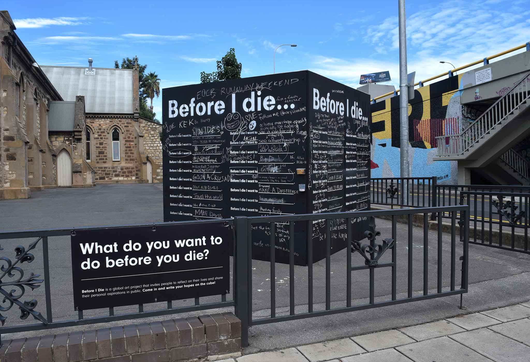 before i die cube trinity city church in adelaide easter at trinity city